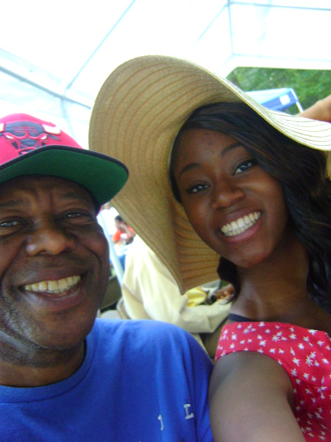 Joseph and Josephine (Father and Daughter) at the Hill Family Reunion Cookout in 2014.